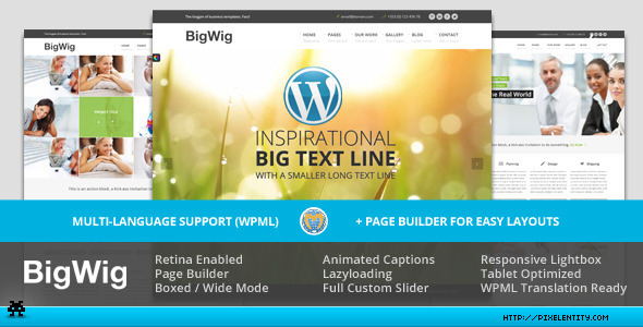 BigWig - Modern Corporate Retina WordPress Theme - Corporate WordPress