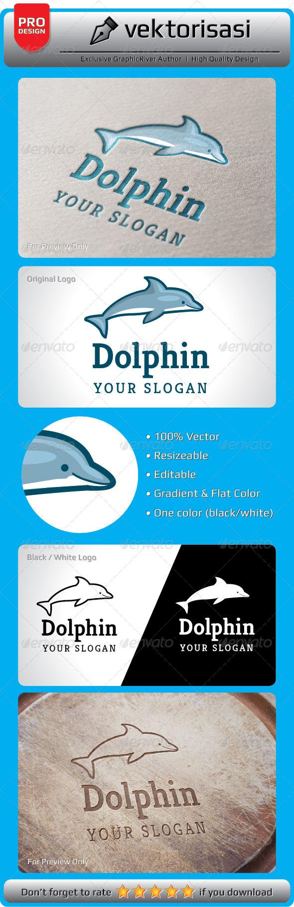 GraphicRiver Dolphin Logo 5252194