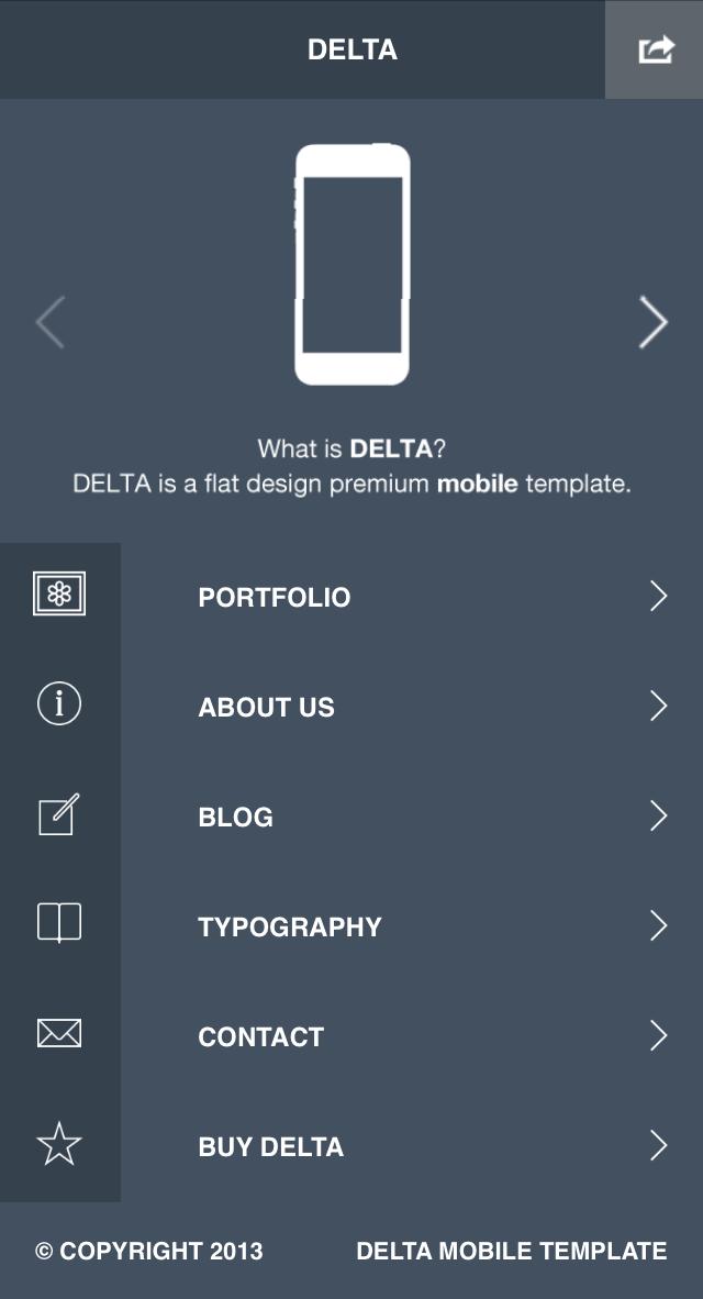 Delta - Flat Mobile | HTML5 & CSS3 Retina