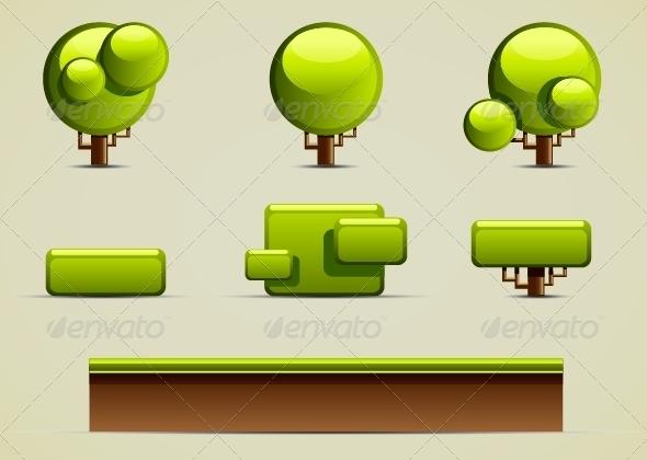 GraphicRiver Green Nature Set 5252364