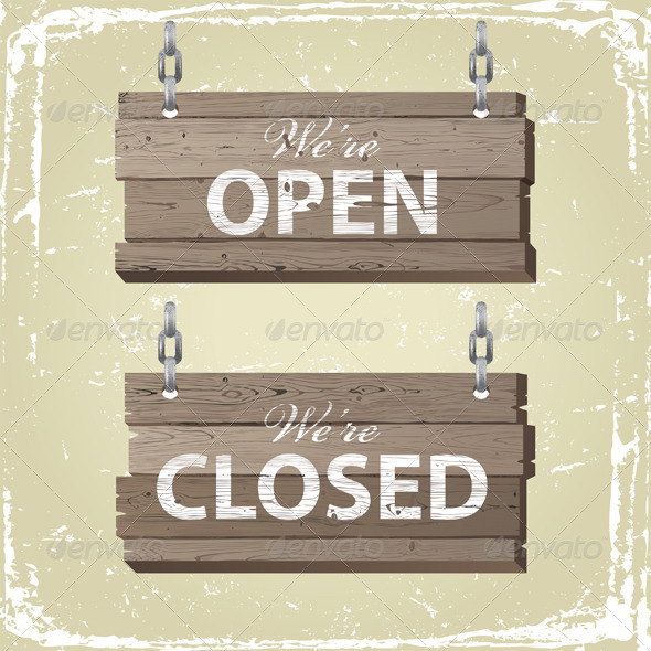 GraphicRiver Open and Closed Signs 5252458