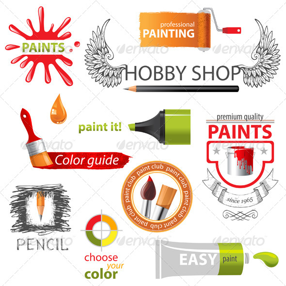 GraphicRiver Paint Embems 5252462