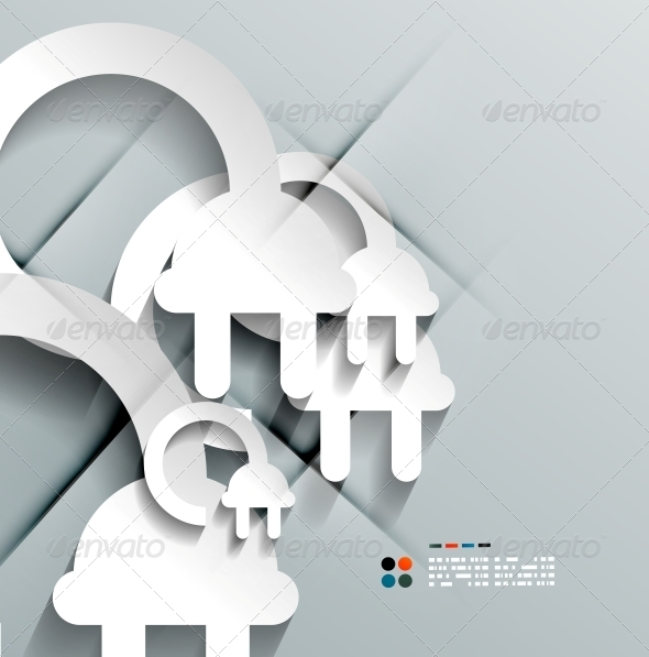 GraphicRiver Vector 3D Paper Plug Modern Design 5252484