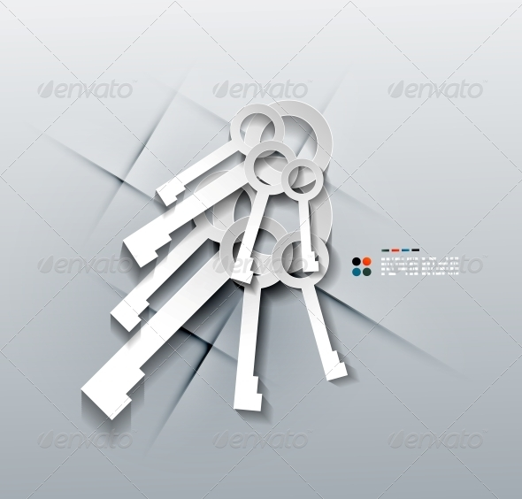 GraphicRiver Vector 3D Paper Keys Modern Design 5252485