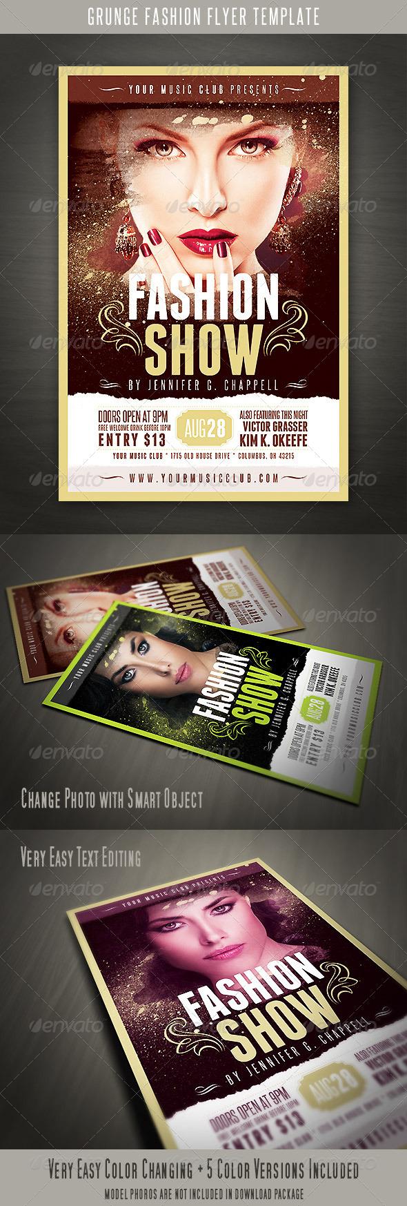 GraphicRiver Grunge Fashion Flyer 5252548
