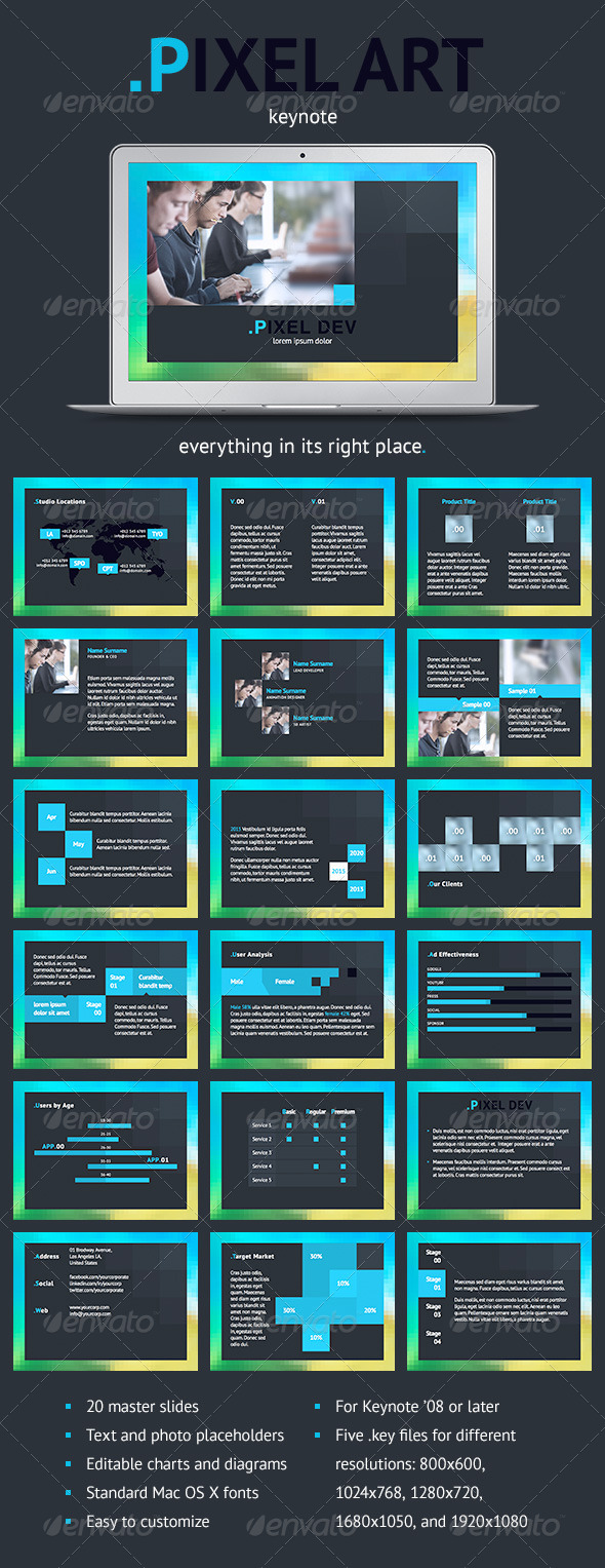 GraphicRiver Pixel Art Keynote Template 5246571
