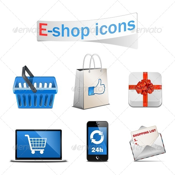 GraphicRiver Vector E-shop Icons 5252632