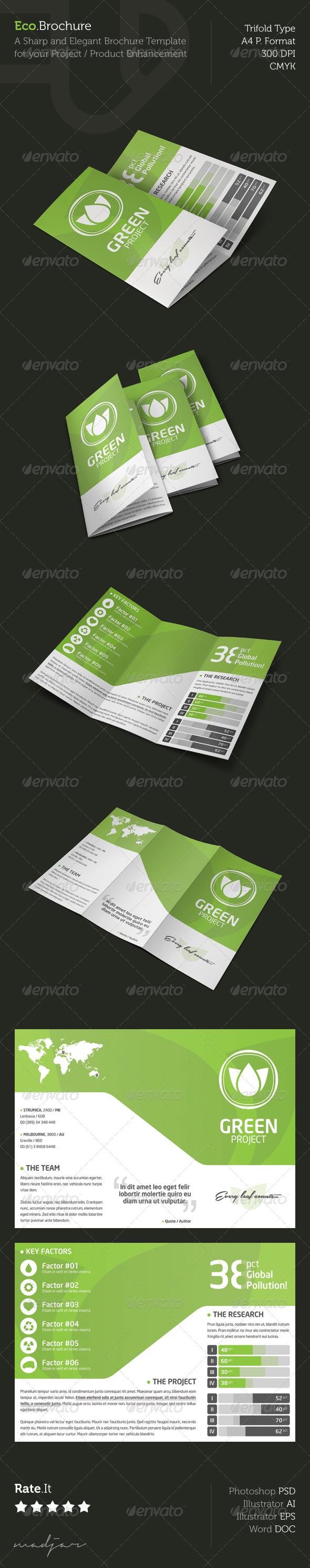 GraphicRiver Eco Trifold Brochure 5219478