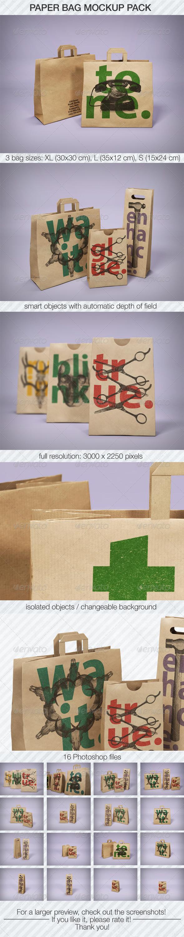 GraphicRiver Paper Bag Mockup Pack 5252929