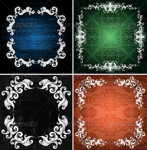 GraphicRiver Ornamented Backgrounds 5253429