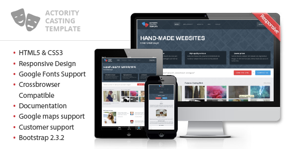 ThemeForest Actority Responsive Template for Casting Agency 5243702