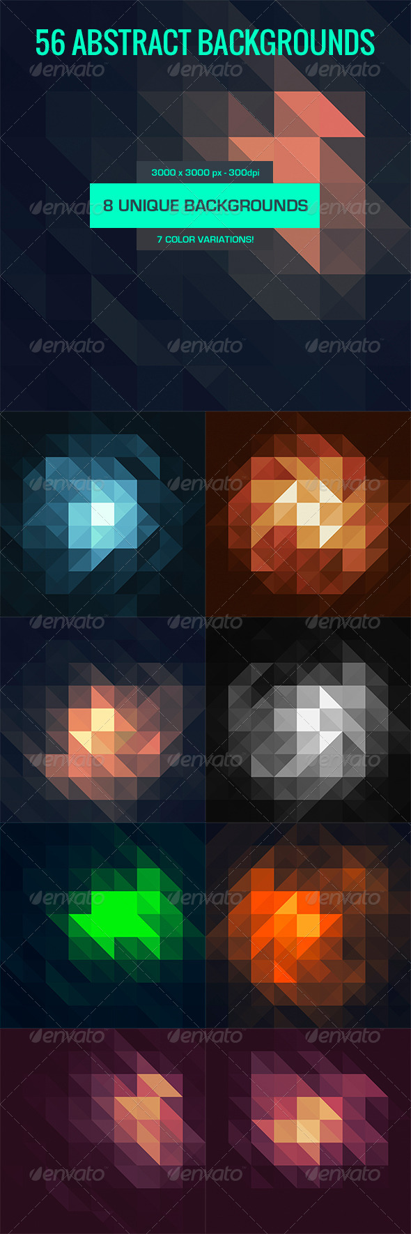 GraphicRiver 56 Geometric Backgrounds 5253673