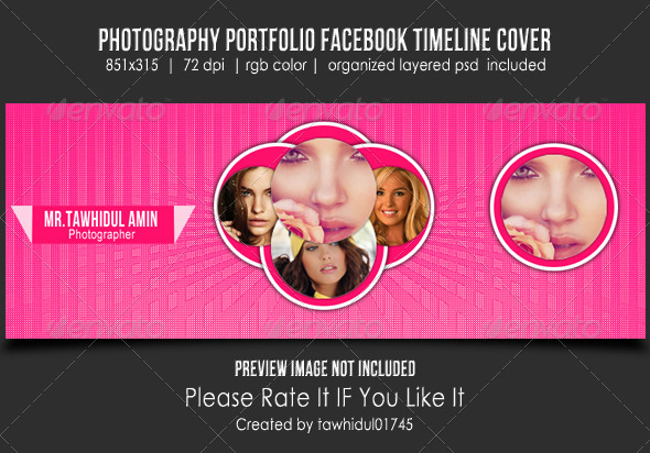 GraphicRiver Photography Portfolio Facebook Timeline Cover 5253889