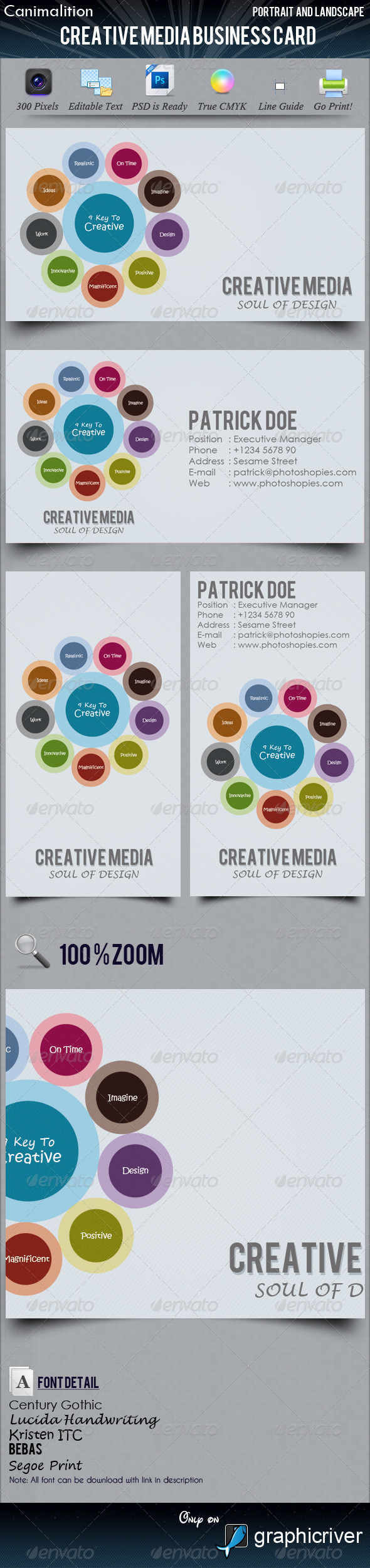 Creative Media Business Cards - Creative Business Cards