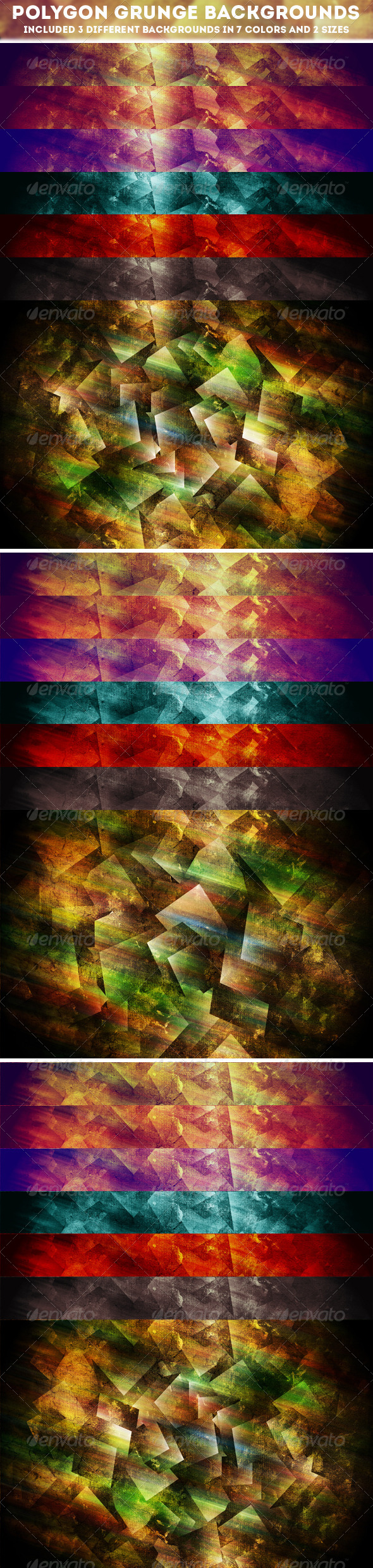 Polygon Grunge Backgrounds - Abstract Backgrounds
