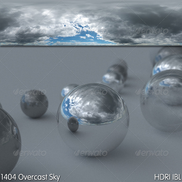 HDRI IBL 1404 Overcast Sky - 3DOcean Item for Sale