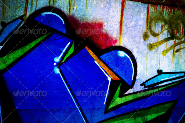Urban Graffiti Background - Stock Photo - Images