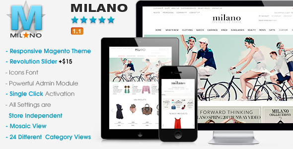 Themeforest professional powerpoint templates templates download themes review ecommerce magento milano responsive magento theme toneelgroepblik Choice Image