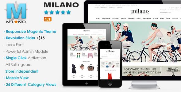 Milano - Responsive Magento Theme - Magento eCommerce