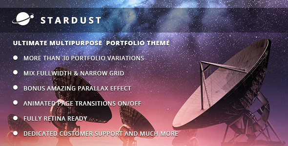 Stardust Multi-Purpose Portfolio WordPress Theme