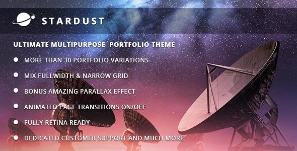 ThemeForest Stardust Multi-Purpose Portfolio WordPress Theme 5254356