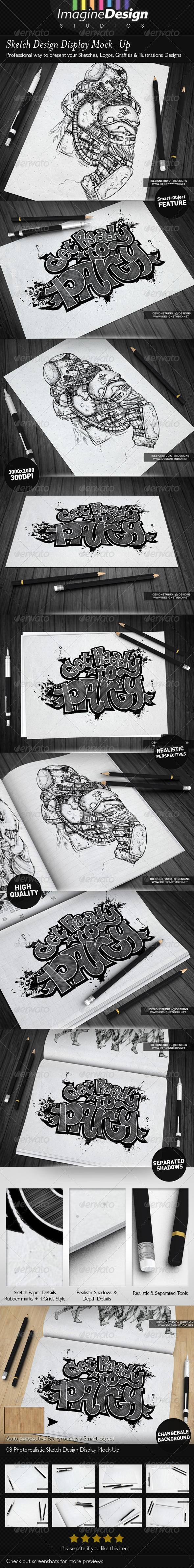 GraphicRiver Sketch Designs Display Mock-Up 5254390