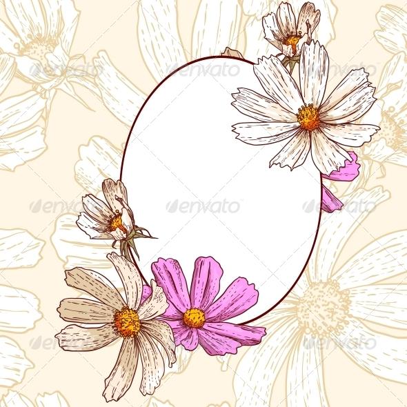 GraphicRiver Vintage Floral Frame 5254396