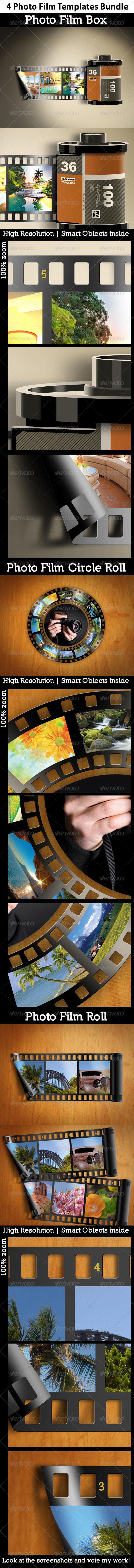 GraphicRiver Photo Film Templates Bundle 5254398