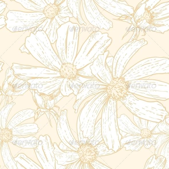 GraphicRiver Seamless Vintage Floral Background 5254405