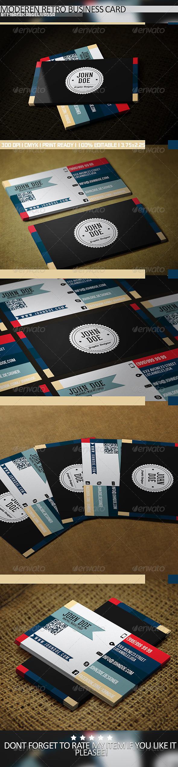 GraphicRiver Modern Retro Business Card 5221367