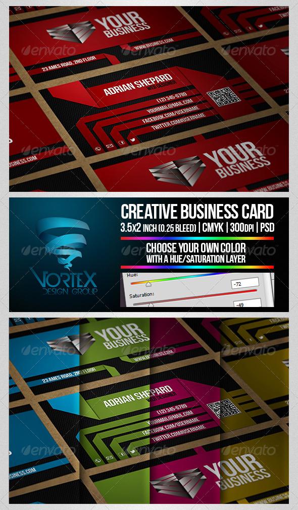 GraphicRiver Creative Multicolor Business Card 5224517