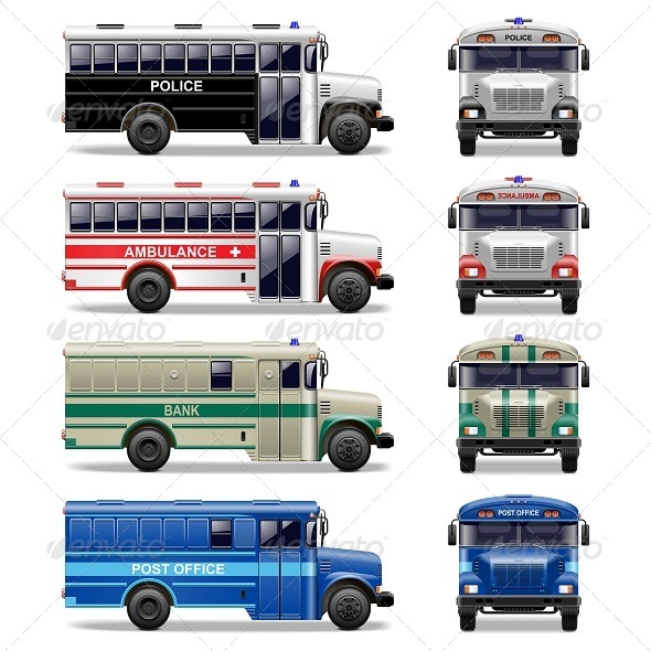 GraphicRiver Vector Special Bus Icons 5254998