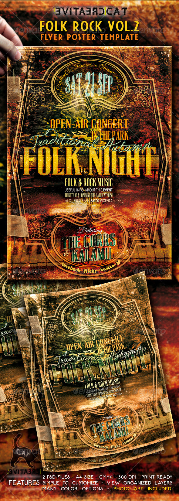 GraphicRiver Folk Rock Flyer Poster Vol 2 5255074