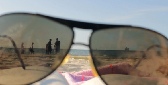 Summer Beach Through Sunglasses