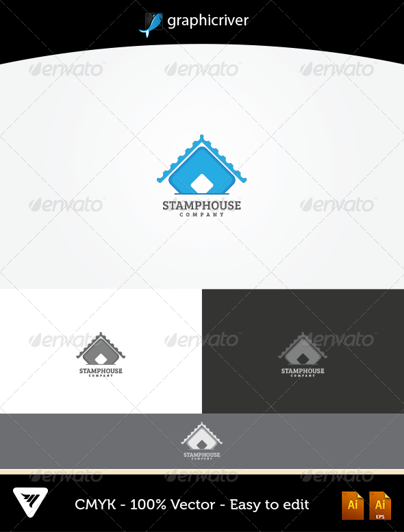 GraphicRiver StampHouse Logo 5255235