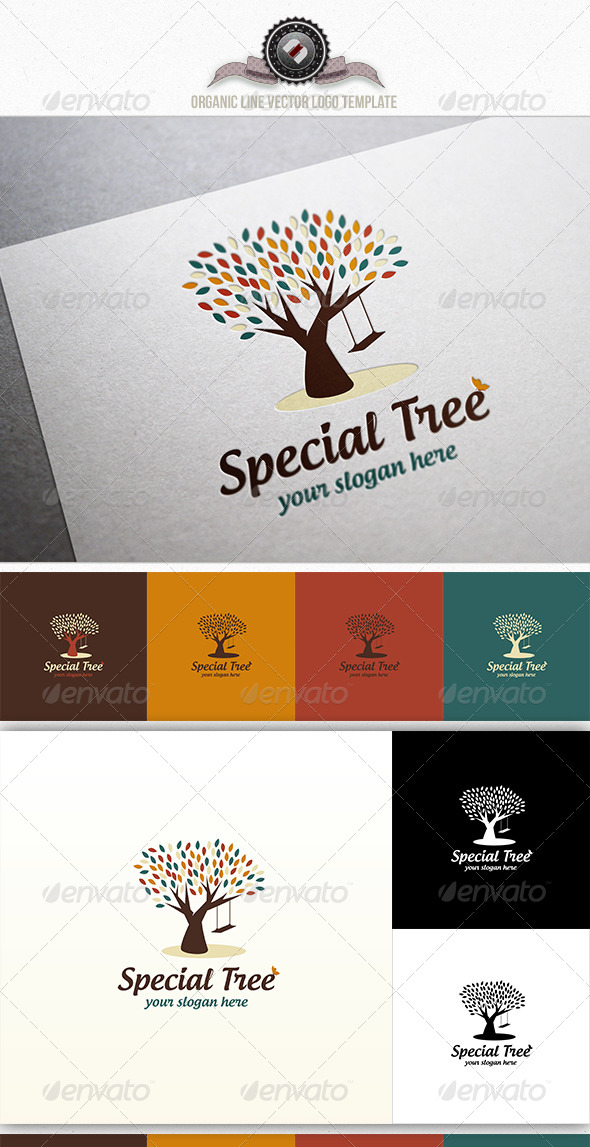 Special Tree Logo Template - Nature Logo Templates
