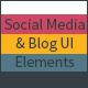 Social Media & Blog UI Elements - GraphicRiver Item for Sale