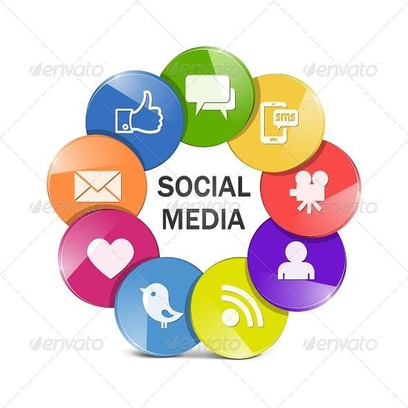 GraphicRiver Vector Social Media Concept 5255332
