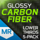 Glossy Carbon Fiber Lower Thirds - VideoHive Item for Sale