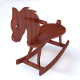 Wooden Rocking Horse and Quad Mesh