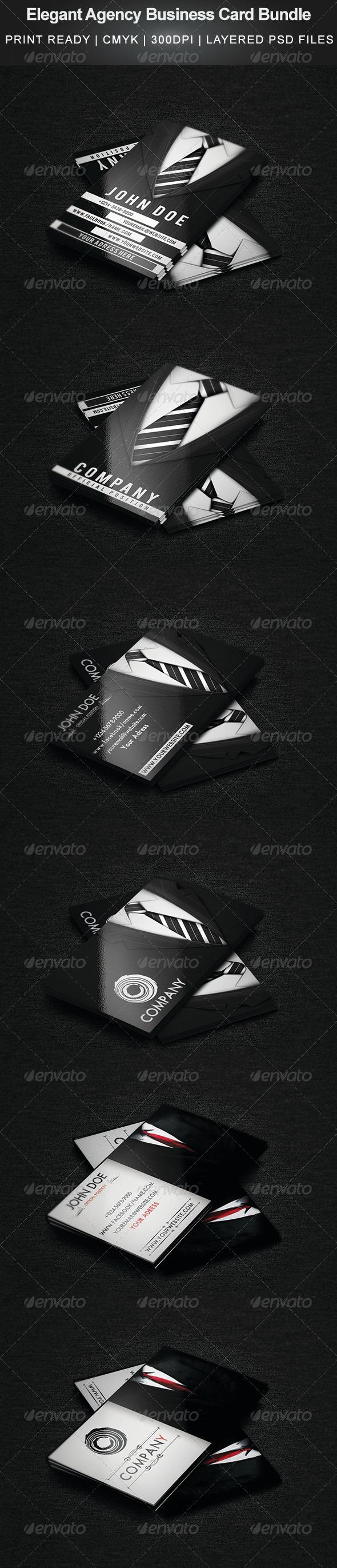 GraphicRiver Elegant Agency Business Card Bundle 5256200