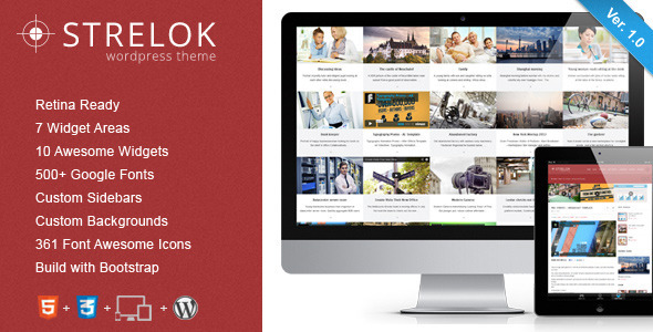 ThemeForest Strelok Retina Responsive WordPress Blog Theme 5256577