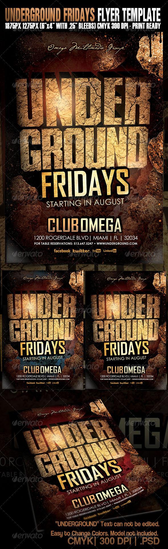 GraphicRiver Underground Fridays 5256583