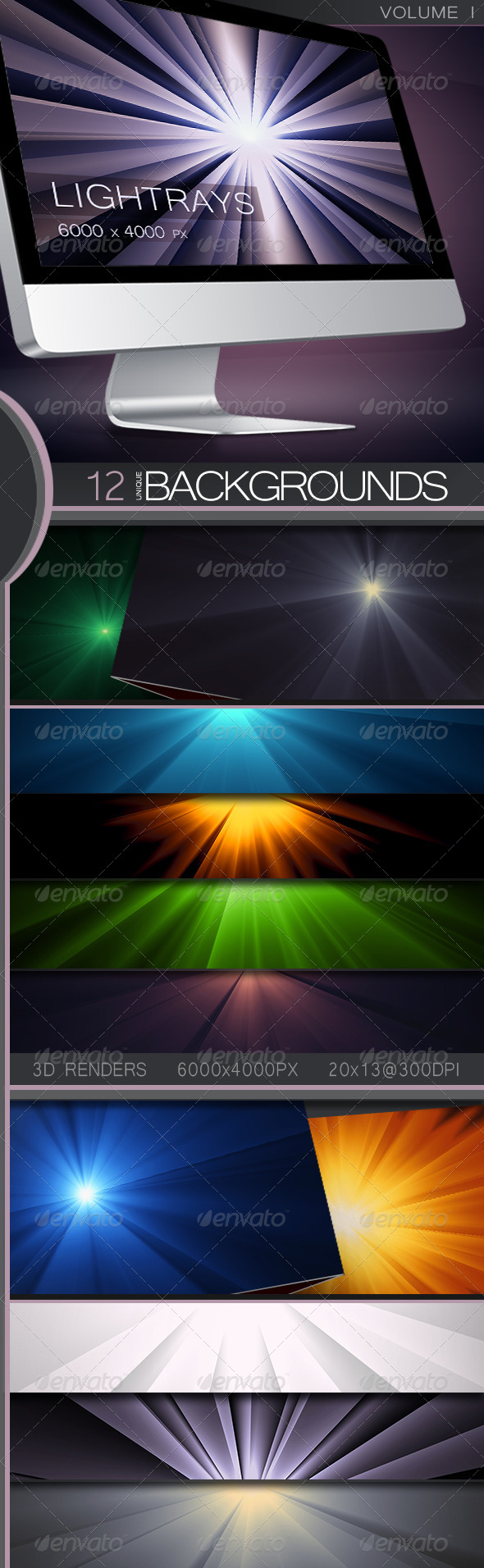 GraphicRiver 3D LightRay Backgrounds Volume 1 5256638