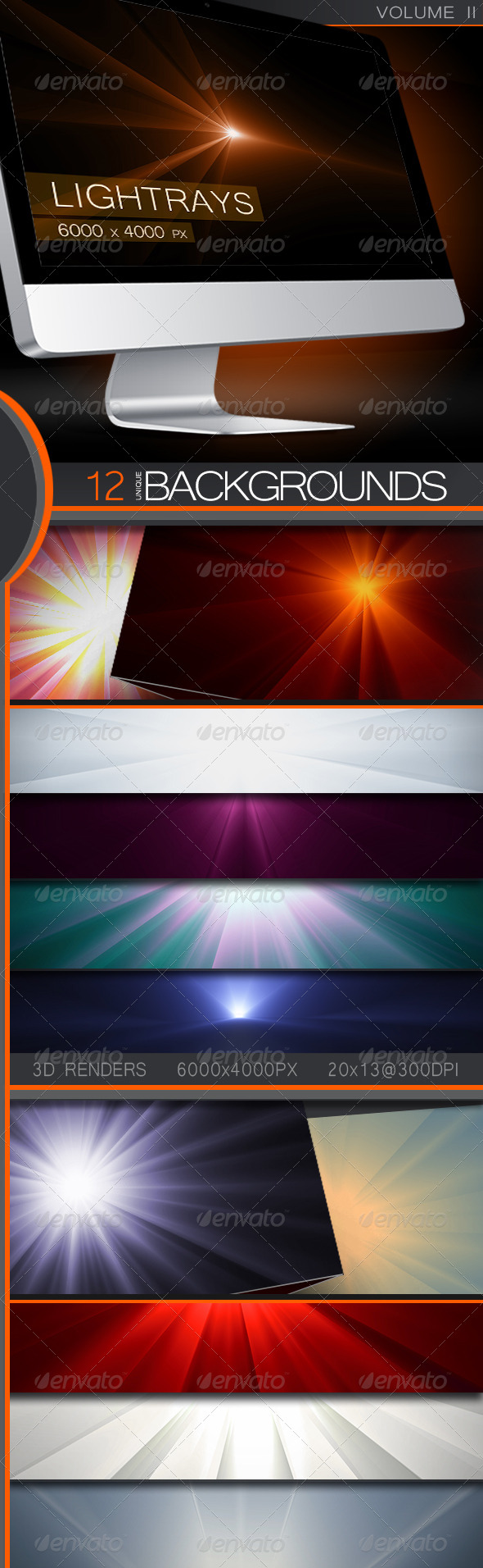 GraphicRiver 3D LightRay Backgrounds Volume 2 5256639
