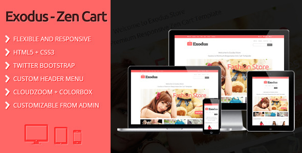 Exodus - Clean and Responsive Zen Cart Template