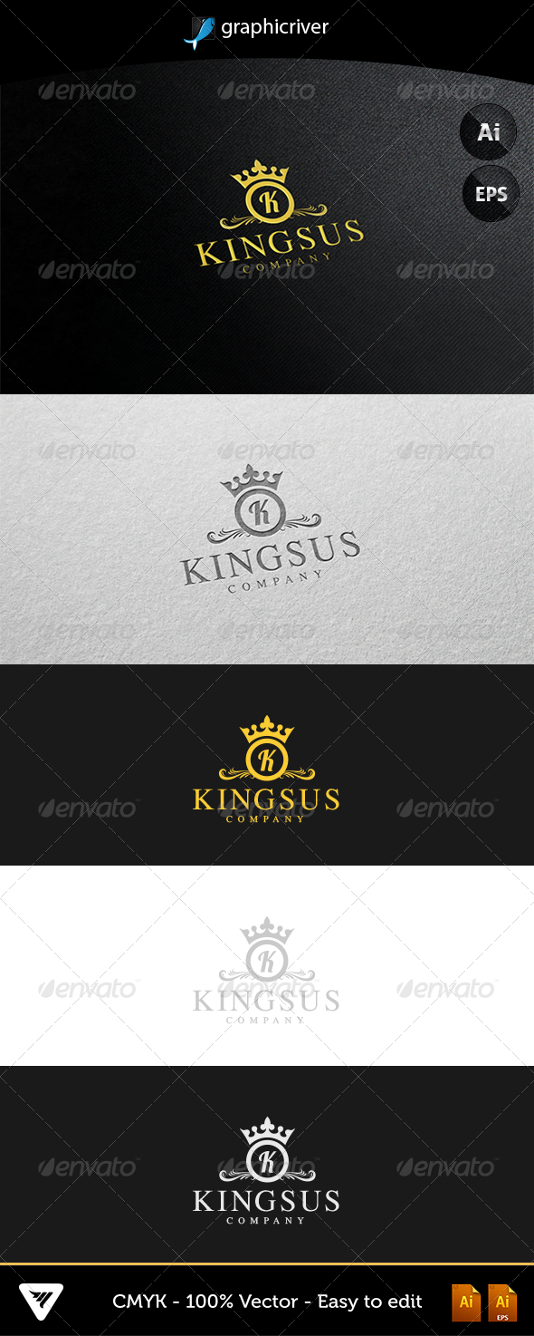 GraphicRiver Kingsus Logo 5256826