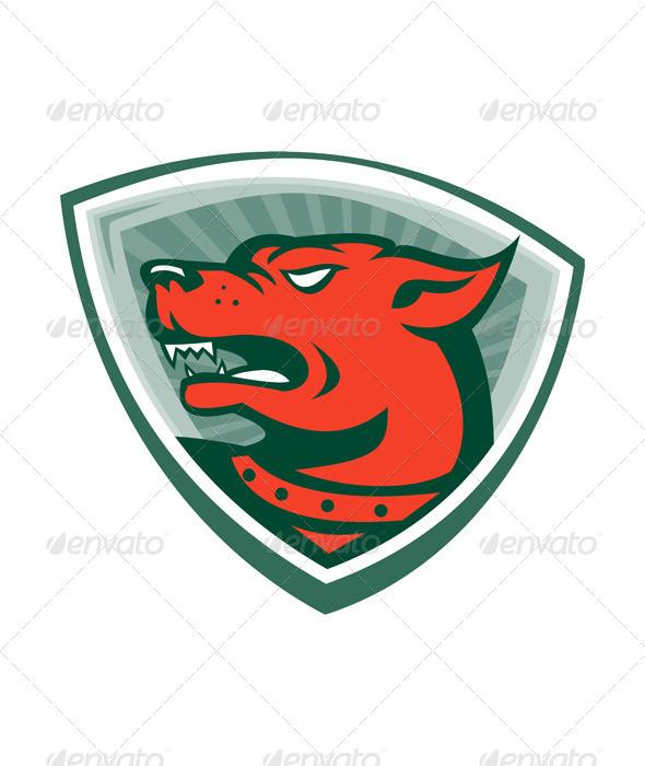 GraphicRiver Mastiff Dog Mongrel Head Crest 5257095