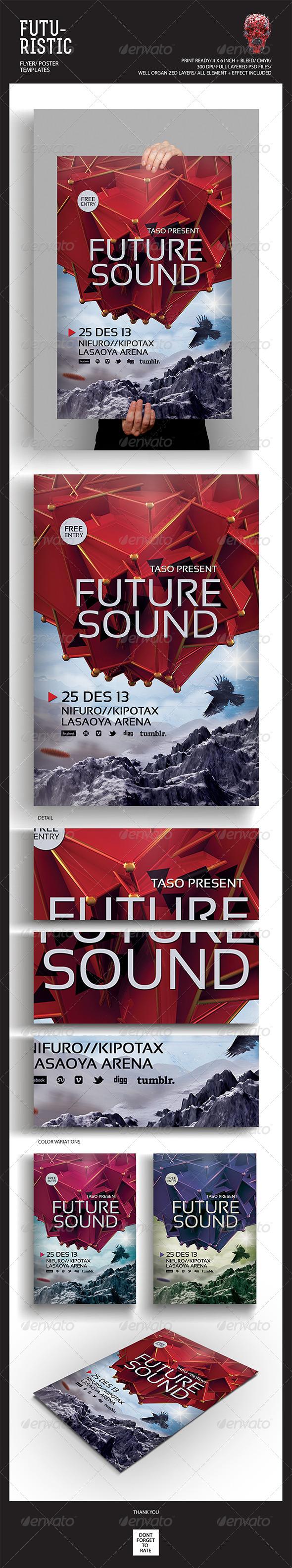 GraphicRiver Futuristic Flyer Poster 5257107