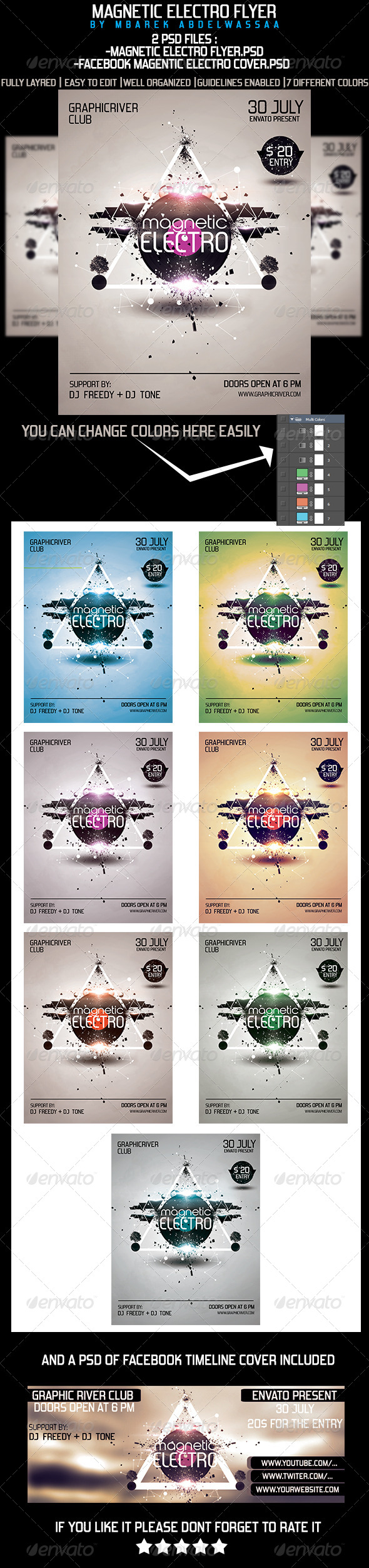 GraphicRiver Electro Magnetic Flyer 5257270